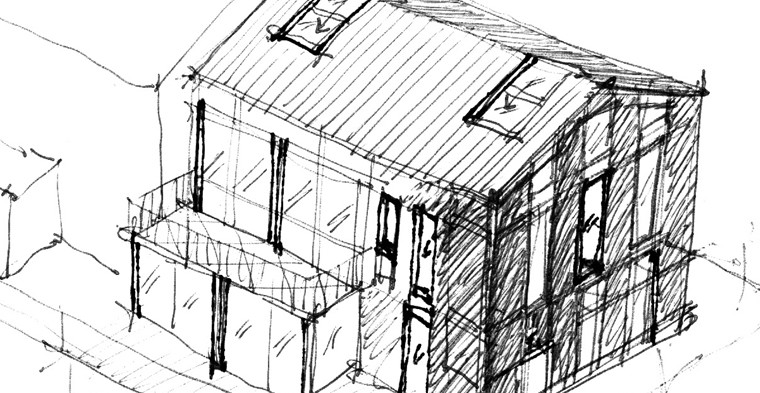 Una casa in legno e paglia è super risparmiosa